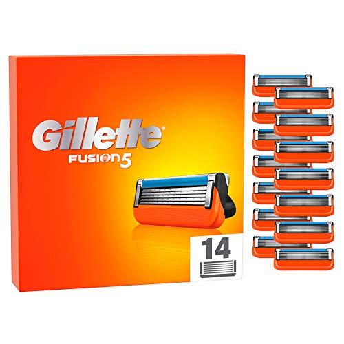 Gillette Fusion5 Rasierklingen für Männer, 14 Stück, für bis zu 20 Rasuren pro Klinge