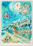 Marc Chagall Poster Drucke 《Karneval der Blumen》
