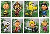 """Peanuts CHARLIE BROWN and Friends Christmas Tree Ornament Set - 2.5"""" Shatterproof Plastic Ornaments Perfect for Small Office Desk Tree or Kids Tree"""