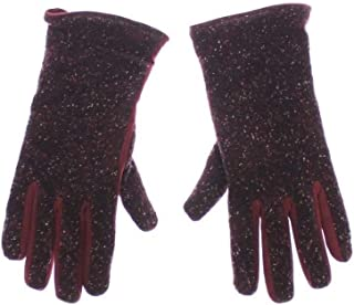 Dolce & Gabbana Mens Red Fabric Leather Wrist Gloves Hand