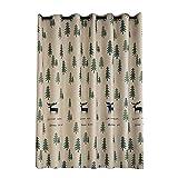 Vosarea Ciervo árbol de impresión Cortinas de Estilo nórdico Mezcla de algodón de Navidad Dormitorio Sala de Estar oscurecimiento Ventana tratamiento-100x200cm