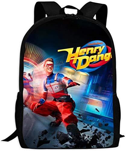 sdfasdfafd Kids School Bags Hen-ry Dan-ger Backpacks Student Bookbag for Boys Girls