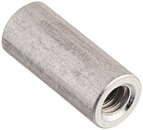 "Round Standoff, Aluminum, Female, Clear Iridite, #4-40 Screw Size, 0.187"" OD, 0.437"" Length, (Pack of 10)"