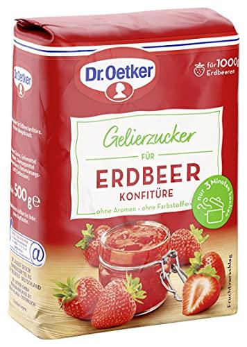 Dr. Oetker Gelierzucker für Erdbeer Konfitüre (1 x 500 g Packung)