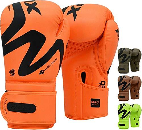 RDX Boxhandschuhe für Muay Thai & Training | Gut für Kickboxen, Kampfsport, MMA, Sparring, Boxsack, Sandsack Boxing Gloves (MEHRWEG)