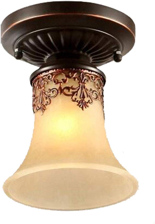 Guancy Moderne LED Deckenleuchten Kronleuchter LED Vintage Deckenleuchten Classic Country Cottage Vintage Retro Laterne Wohnzimmer Schlafzimmer Restaurant, warmwei (220V-240V) [Energieklasse A +++]