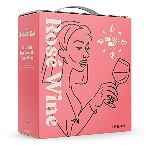 Marca Amazon - Compass Road Tempranillo Rosado, España (Bag in Box), 5l