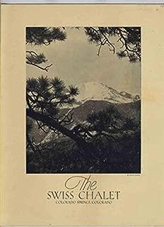 The Swiss Chalet Menu Pikes Peak Avenue Colorado Springs Colorado 1950's
