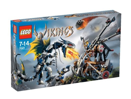 Lego 7021 - Wikinger 7021 Gepanzerter Drache Ofnir gegen Doppelkatapult