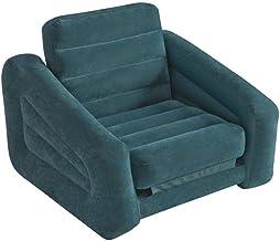 Intex Inflatable Pull-Out Chair Convertible Into Air Mattress, Green SB-SG68565E