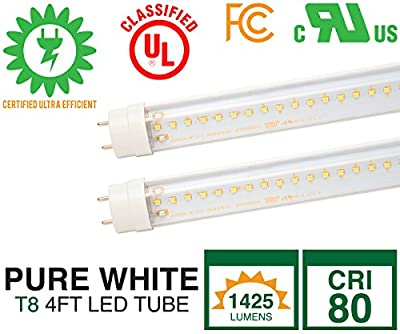 LED Tube T8 RSLT81-4FT-15W-5000-ND-IDS-CL 2 Pack