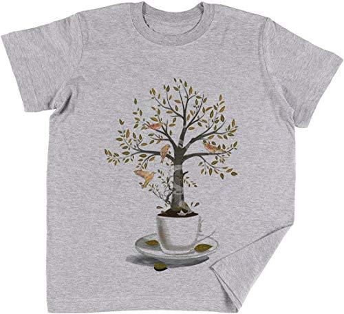 Una Vaso De Sueños Niños Chicos Chicas Unisexo Camiseta Gris