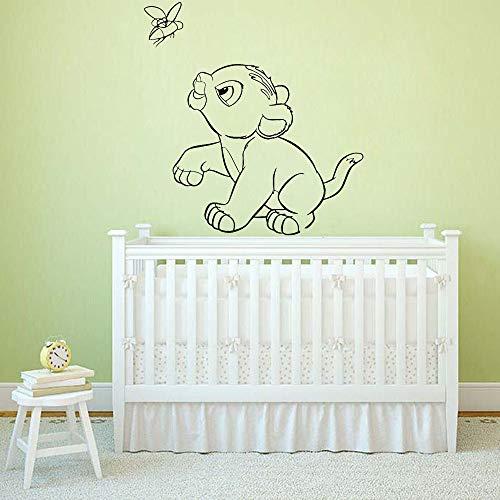 HGFDHG Decoración de la casa de los niños habitación de los niños Etiqueta de la Pared del niño león Rey decoración de la habitación calcomanía de Vinilo de Pared Papel Tapiz de Dibujos Animados