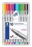 STAEDTLER 334 SB10 - Bolígrafo punta fina, 10 unidades, Multicolor