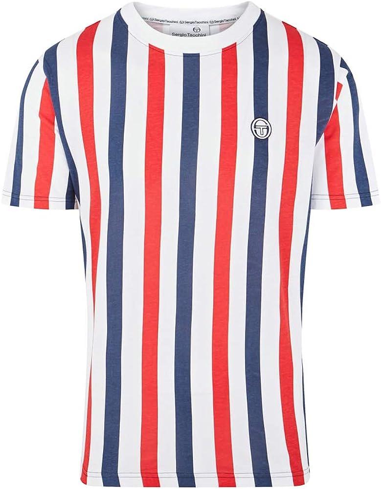アウトレット Sergio Tacchini 好評 Mens Anzi Retro 80s T-Shirt