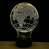 3D 7 Colores luz de noche en forma de globo mapa de Europa decoración...
