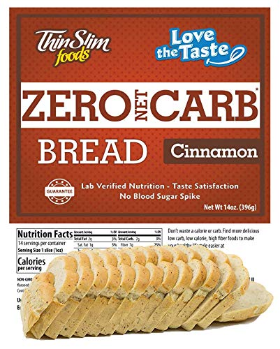 ThinSlim Foods Keto Low Carb Bread - Cinnamon Bread, 1 Pack (14 Slices)