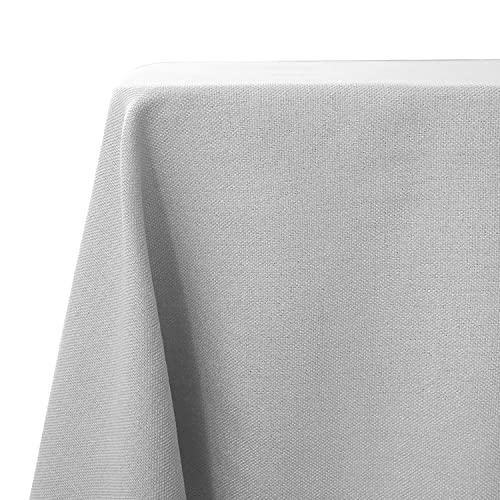 WAITER TREE Mantel Impermeable Mantel de Lino Sintético para Patio Mantel de Estilo Clásico para Decoración de Cocina Cafetería (Beige Gris, 120x120cm)