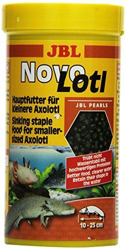 JBL NovoLotl 30353 Alleinfutter für klein Axolotl, Perlen 250 ml