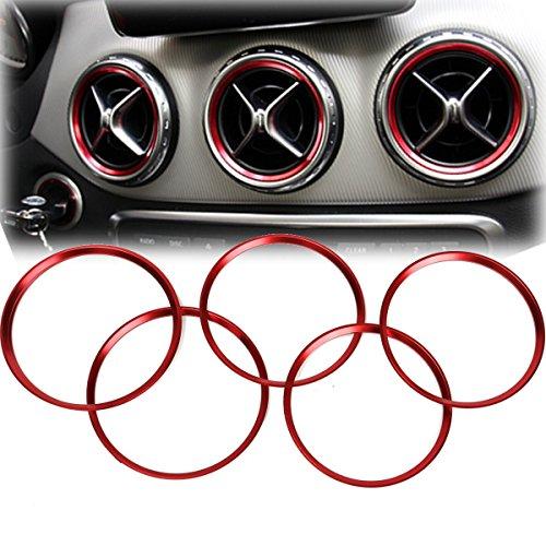 Alamor Anillo Decorativo 5Pcs Air Outlet para Mercedes Benz