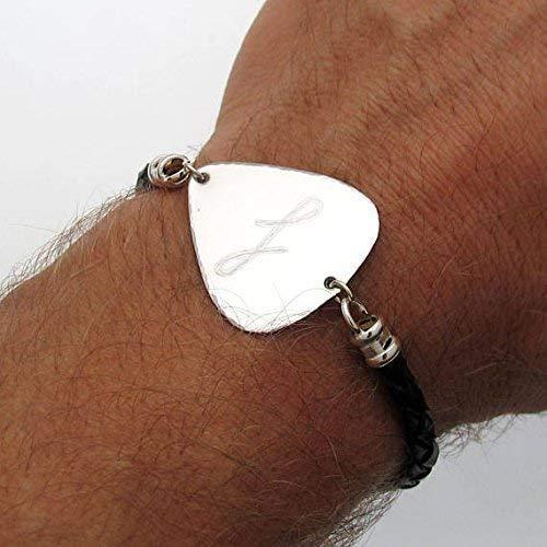 Guitar Pick Bracelet - Gift for musician - Personalized Gifts for Him - Personalized Mens Bracelet - gift for recovery - Boyfriend Gift