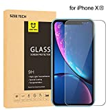 SZEE Tempered Glass Screen Protector for iPhone XR,9H HD Bubble-Free 6.1'-Clear