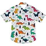 AIDEAONE Ropa para Niños Camisa de Manga Corta Camisas con Estampado de Dinosaurios...
