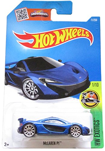 Hot Wheels, 2016 HW Exotics, McLaren P1 [Blue] Die-Cast Vehicle 71/250 by Hot Wheels