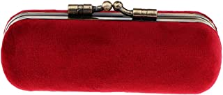 P Prettyia 8色 口紅ホルダー 化粧ケース 収納ボックス ミラー 財布ポケット 化粧ポーチ - 赤紫