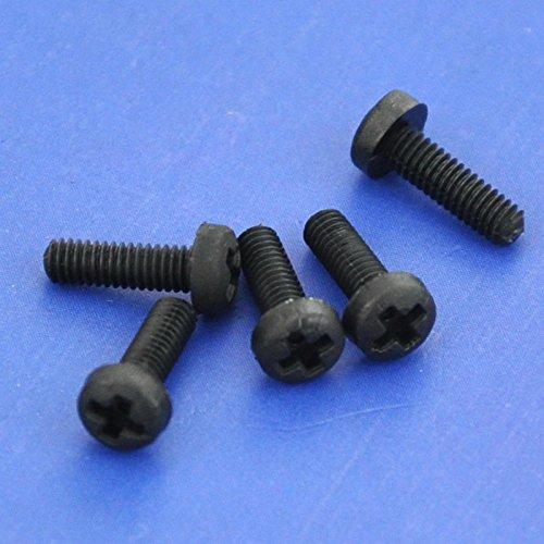 Electronics-Salon 10pcs M2,5 x 8 mm Vis Phillips pan-header en nylon noir.