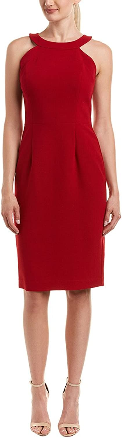 Black Halo Womens Marcelle Sheath High Neck Cocktail Dress