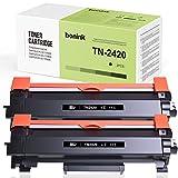BONINK TN2420 TN-2420 Tóner Compatible para Brother MFC-L2710DW MFC-L2730DW HL-L2310D HL-L2350DW HL-L2375DW DCP-L2530DW (2×Negro)