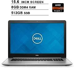 Dell 2019 Premium Inspiron 15 5000 15.6 Inch FHD Laptop (AMD Ryzen 7 2700U up to 3.8 GHz, 8GB DDR4 RAM, 512GB SSD, Radeon Vega 8, Bluetooth, WiFi, HDMI, Windows 10)