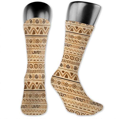 Papalikz Compression Medium Calf Socks,Ethnic Hieroglyph Style Geometric Abstract Ancient Native American Motif