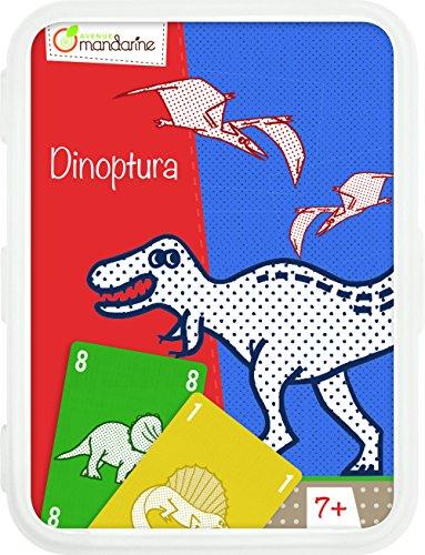 Avenue Mandarine CO107O - Un jeu de 40 cartes Dinoptura en boite plastique refermable