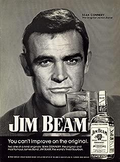 8 x 10 Fuji Film Photo Jim-Beam-Sean-Connery Says A mostly Art Stuff Product