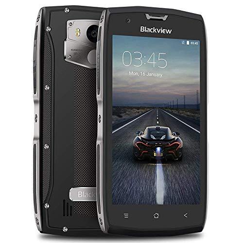 """""""2018 New"""" Blackview BV7000, Smartphone double SIM extérieur / durable / antichoc / étanche, 4G, Appareil photo 8MP / 5MP et 3500mAh 5V Charge rapide 2A, Téléphone mobile 2MP / 16MP et noyau 7.0G GLONASS / FM / Bluetooth 68 / Empreinte digitale - Gris"""
