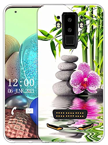 Sunrive Kompatibel mit DOOGEE S90 Hülle Silikon, Transparent Handyhülle Schutzhülle Etui Hülle (X Blume)+Gratis Universal Eingabestift MEHRWEG