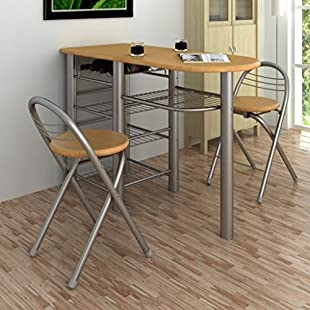 Customer reviews Anself Table Chairs Set Kitchen Breakfast Bar Set:Greatestmixtapes