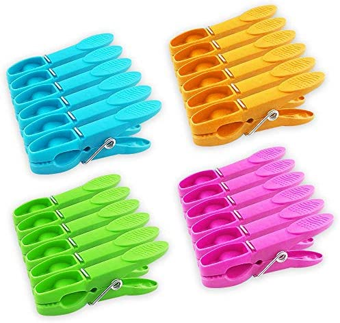 JABINCO Colorful Plastic Clothespins Heavy Duty Laundry Clothes Pins Clips with Springs Air product image