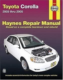 Best toyota corolla 2005 manual book Reviews