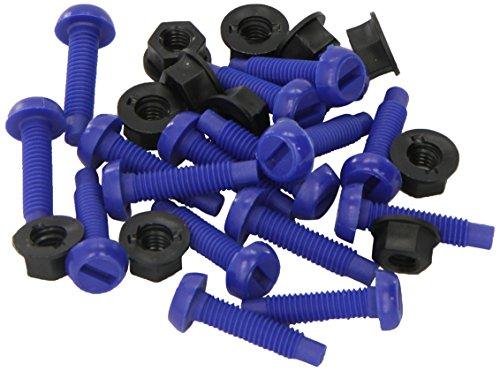 The Tool Connection Ltd. 31533-Connect-écrous pour vis Plaque d'immatriculation-no. 8 (2,5 cm Lot de 100 Bleu-)