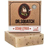 Dr. Squatch Mens Cedar Citrus Soap – Natural Exfoliating Soap Bar for Men with Cedarwood, Rosemary, Orange Organic Oils – Bar Handmade in USA