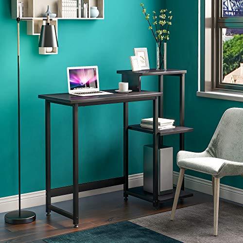 Schreibtisch Computertisch PC Tisch Bürotisch Officetisch Arbeitstisch für Büro Wohnzimmer Schule, Metallrahmen, 100 * 34 * 85.5 CM, Industriestil Stabil (Schwarz)