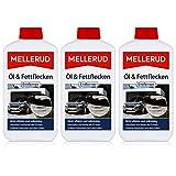 Mellerud Öl & Fettflecken Entferner 500ml - Absorbiert und bindet alle Öl-Arten - Entfernt Fettspritzer nach dem Grillen (3er Pack)