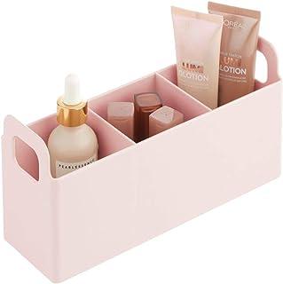 mDesign organisateur de cosmétiques avec poignées intégrées pour salle de bain – serviteur de salle de bain avec trois com...