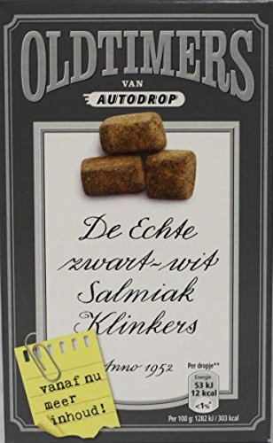Oldtimers De Echte zwart-wit Salmiak Klinkers 235g Holland lakritze
