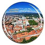 Weekino Ciudad Vieja de Ljubljana Eslovenia Imán de Nevera 3D de Cristal de Turismo de la Ciudad de Viaje Recuerdo de la Colección de Regalo Fuerte Etiqueta Engomada del refrigerador