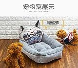 IFRIK De Dibujos Animados De La Perrera Cálido Colchón De Suministros Nido De Arena para Gatos Mascotas Perro Mascota-3D Impresión Gris Nido De Shar Pei Fang-Pequeño