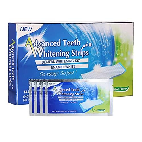 MaylFre Whitening Zahnpasta Streifen Zähne Reduzierte Sensitive 3D weiße elastische Gel Mundhygiene Doppel Elastic für Entfernen von Flecken 7pairs, Schöne Zahnpasta